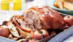 Elgin roast pork #recipe. Cooking the apples with the pork relinquishes apple sauce duty to the braai! Everything in one pot makes washing up easy.
