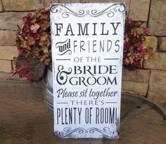 Rustic Wedding Seating Sign