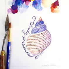 This may be another new favorite shell for me - the Cloudy Periwinkle. #31DaysOfSeashells ❤️ Copyright Amalia Hillmann