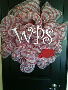 Woo Pig Sooie! Razorback Wreath by SKSignatureDesigns on Etsy, $70.00