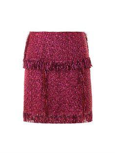 Lanvin metallic tweed skirt