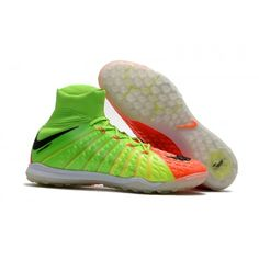 new product 40d13 7c321 Botas De Futbol Sala Nike Hypervenom Phantom III MD TF Verdes Naranjas