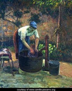 Washerwoman - Camille Pissarro - www.camille-pissarro.org