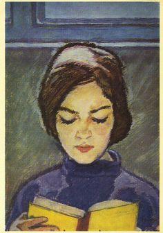 V. Vlasov, Girl With Book, 1966