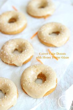 BAKED CARROT CAKE DONUTS WITH SIMPLE HONEY BUTTER GLAZE!