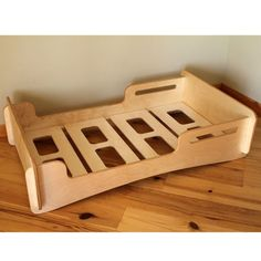 Items similar to Natural Crib sized Montessori style Infants bed on Etsy Mattress On Floor, Crib Mattress, Baby Furniture, Plywood Furniture, Toddler Floor Bed, Trampoline, Montessori Bed, Cool House Designs, Kid Beds