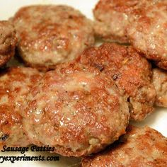 Breakfast Sausage - Breakfast Sausage Patties Recipe Breakfast and Brunch with pork butt, salt, black pepper, rubbed sa - Breakfast Sausage Seasoning, Sausage Spices, Pork Sausage Recipes, Homemade Sausage Recipes, Homemade Breakfast Sausage, Meat Recipes, Cooking Recipes, Breakfast Sausages, Sausages