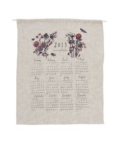 Valentine's Day Gift Idea: Wildflower Wall Calendar from Terrain