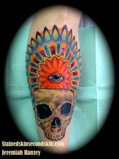 Skull Tattoo #JeremiahHanzey #Stainedskinsecondskin