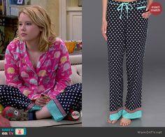 Lennox's polka dot pajama pants on Melissa and Joey.  Outfit Details: http://wornontv.net/44438/ #MelissaandJoey