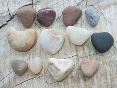 Heart Shape Mountain River Pebbles undrilled wonderfull colors- P44. $7.99, via Etsy.