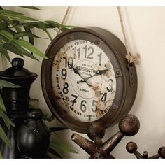World map suitcase clock pinterest suitcase and clocks vintage round hanging wall clocks white gumiabroncs Gallery