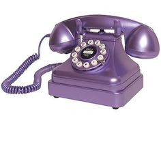Crosley CR-62 Kettle Classic Desk Phone ~ Metallic Purple