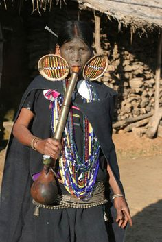 Myanmar | Woman from Makan Chin tribe, Mindat village, Chin State | ©photographer unknown, via Asmat Travel user gallery.