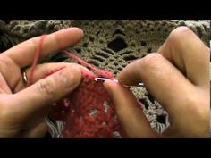 crochet pineapple stitch triangular shawl rows 1 -10 - YouTube
