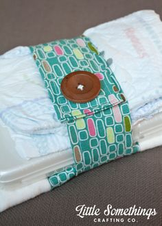Velcro Diaper Strap with matching burp cloth! Perfect Baby Gift!!!