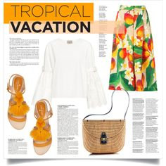 TROPICAL VAC (#30 TFS 100717) by virgamaleva on Polyvore featuring Sea, New York, Isolda, Kate Spade, Mark & Graham and McGinn