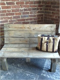 "Turn a pallet into a bench! go to www.shabbylovefurniture.com ""old is new makeovers"" $255"