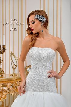 Suknie ślubne Kraków Strapless Dress Formal, Formal Dresses, Wedding Dresses, Jasmine, Empire, Fashion, Dresses For Formal, Bride Dresses, Moda
