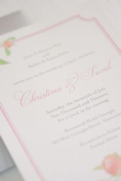 Pink Floral Wedding Stationery | photography by http://melissagidneyphoto.com