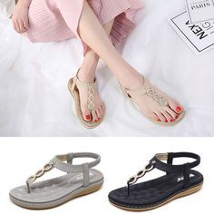 71a40845c47  4.74 Bohemia-Women-Summer-Slippers-Flip-Flops-Flat-Sandals-Casual-Beach- Thong-Shoes