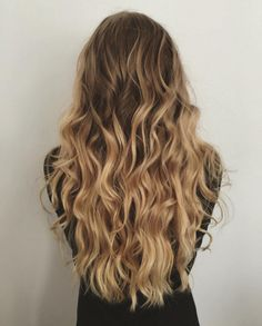 My hair from instagram (miisahellevaara_) #hair #blonde #brunette #curls #brown #ombre