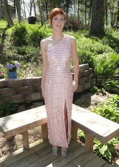 the soda can tab prom dress