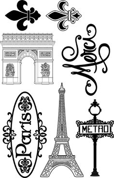 Bring sophisticated, bold creativity to your Paris-themed projects with this stamp set by Paper Wizard. The Paris Clear Acrylic Stamp Set can be used with any Paris Party, Paris Theme, Thema Paris, Image Mode, Images Vintage, Paris Birthday, Freebies, Clear Stamps, Coloring Pages