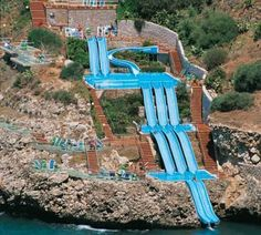 Oh. My. Goodness. Superslide into the Mediterranean Sea - Sicily, Italy