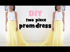 DIY | HOW TO MAKE A TWO PIECE PROM DRESS/GOWN - YouTube