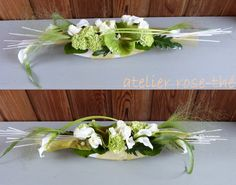 don't care for the white container, though Art Floral, Deco Floral, Floral Design, Table Arrangements, Floral Arrangements, Corporate Flowers, Low Tables, Gifts For Photographers, Center Table
