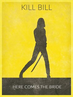 KILL BILL Movie Poster Uma Thurman Poster Print by BaydleCreative