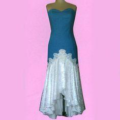 Hi-Lo C Denim Dress