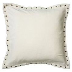 Solid Velvet Self Flange with Rivets - White - out of stock