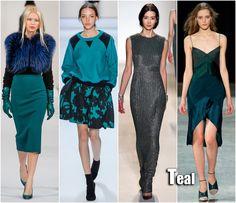 Fall 2013 Fashion Trends | New York Fashion Week trends Teal Trend: 3.1 Phillip Lim, Oscar de la ...