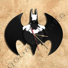Wall Clock Batman Clock Vinyl Record Clock home por geoartcrafts