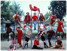 Campus fashions, photo by Yale Joel, 1957