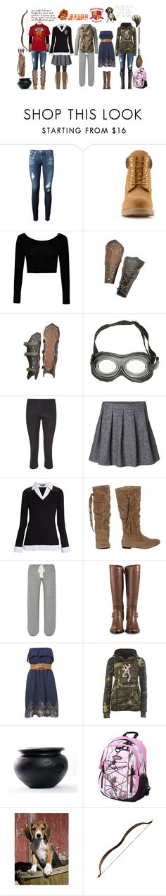 """""""Butt Kicker not a Kisser (Hogwarts Wardrobe)"""" by ashley-huggins-1 ❤ liked on Polyvore featuring AG Adriano Goldschmied, Timberland, Boohoo, Hot Topic, Sweaty Betty, Vero Moda, Morgan, Wet Seal, Eberjey and Cabela's"""