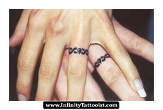 infinity tattoo under wedding ring 09 - http://infinitytattooist.com/infinity-tattoo-under-wedding-ring-09/