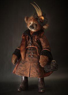 Upper Crust - Lori Simon Furbearsake Soft Sculpture, Lion Sculpture, Boyds Bears, Teddy Bears, Doll Toys, Dolls, Love Bear, Cuddling, Art Projects