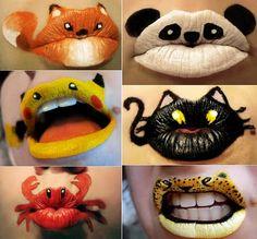 Crazy Lips for a Quick Halloween Idea...hahaha!!