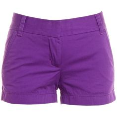 Pre-owned Women's J.Crew Purple Shorts ($19) ❤ liked on Polyvore featuring shorts, bottoms, pants, purple, short, j.crew, short shorts, purple shorts and j. crew shorts