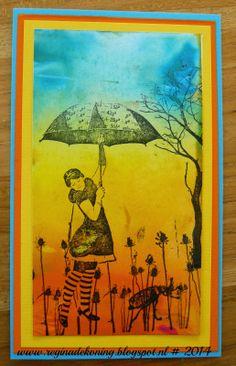 Acrylverf achtergronden en gestempeld met Artjourney stamps