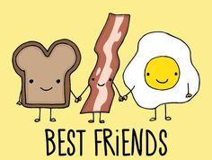 #bacon #tost #eggs #cute #best Friends