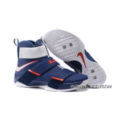 huge selection of f6513 6e291  USA  Nike LeBron Soldier 10 Obsidian White-University Red New Release,