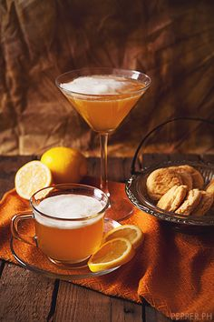 Earl Grey Tea Martini Recipe   2 tbsp Earl Grey Tea infused with Vodka  2 tbsp Corn Syrup  1 pc Lemon, juiced  1/2 cup Ice