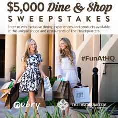 Win $5,000 Dine & Shop Sweepstakes To The Headquarters at Seaport - ends 5/15/16