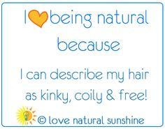 I love being natural | Love Natural Sunshine