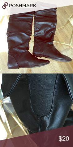 Black long winter boots. Candie's size 8 1/2 Black long winter boots. Candie's size 8 1/2 Candie's Shoes Winter & Rain Boots
