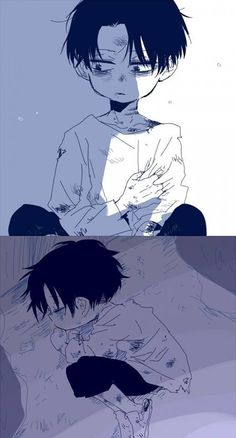 Awww Levi when he was a kid, so sad :'(